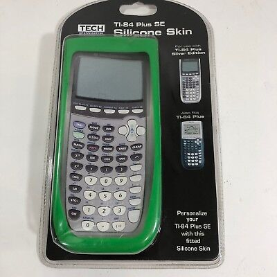 TI-84 Plus SE Silicone Skin Green Tech Headquarters Fitted Protection New Sealed