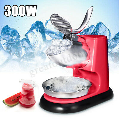 95kg/h Electric Ice Crusher Shaver Commercial Machine Snow Cone Maker 300W 220V