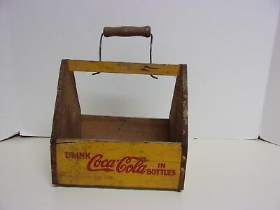 1940's Coca Cola Wooden 6 Pack Bottle Carrier Advertising