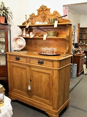 Victorian period French Pitch Pine Dresser