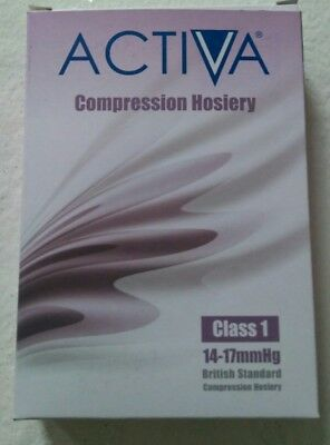 Activa Compression Hosiery Class 1 14-17mm Hg Thigh Length Colour Black S
