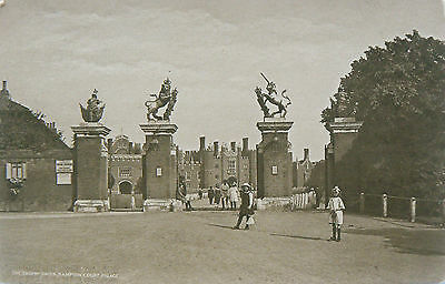 Topographical Postcard.hampton Court Palace.early Sepia Image