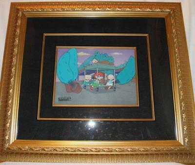 Rugrats Kids Hand painted Original framed Production Animation Cel & background
