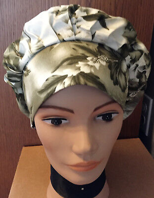 Hawaiian Tropical Women's Ladies Bouffant Surgical Scrub Hat/Cap Handmade