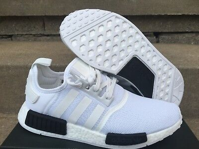 1c475a9b3d27d ADIDAS NMD_R1 BB1968 White Black 3M GS & Men Sizes 4~15 AUTHENTIC ...