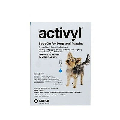 Activyl Spot-On Flea Treatment for Toy Dogs 4-14 lb 6 Pack