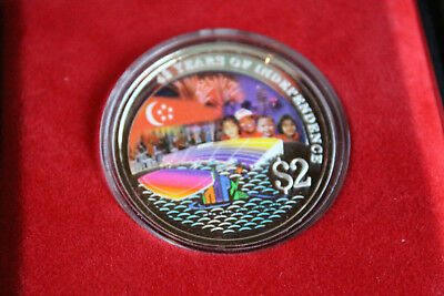 2007 Singapore $2 Silver Proof Colorized Coin