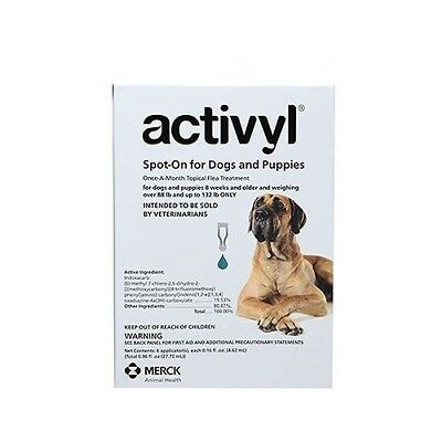 Activyl Spot-On Flea Treatment for Extra Large Dogs 88-132 lb 6 Pack