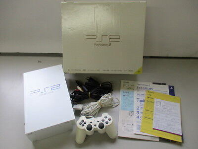 PS2 Console Pearl White SCPH-50000 Boxed /Yellowed Scrathes JP [EM]No.1