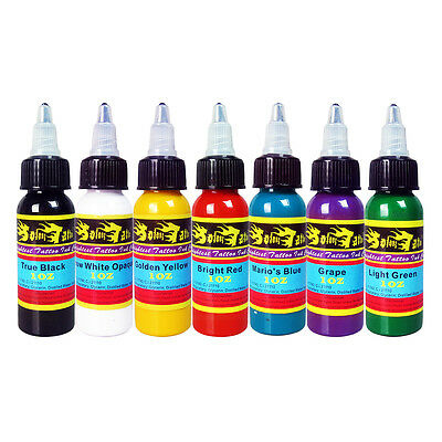 Sterile Positive Tattoofarbe Set 7x30ml voller Farben Tätowierfarbe Profi Ink
