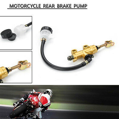 Universal Motorcycle Rear Foot Brake Master Pump Cylinder Fluid Reservoir Yellow
