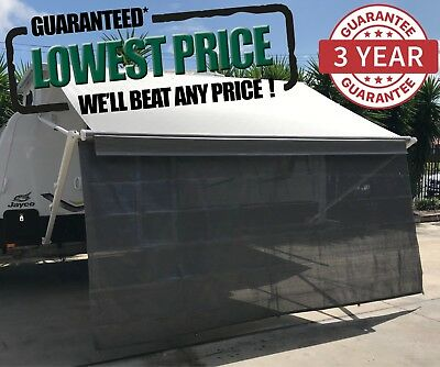 4.3m 15ft Caravan RV Privacy Screen Wall Sun Shade Roll Out Awning Jayco parts