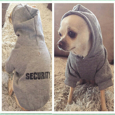 Pet Puppy Dog Boy Clothes Sweatshirt Apparel Hoodie Security Letters Printing