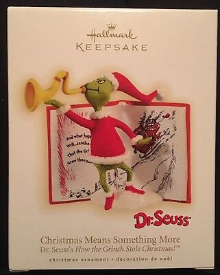 Hallmark CHRISTMAS MEANS SOMETHING MORE - How the Grinch Stole Christmas! 2009