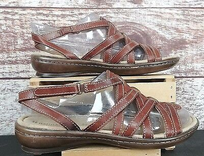 9994fa71ac09a2 Naturalizer N5 Comfort Jamboree Strappy Sandals Women s Size 8.5W Brown  Leather