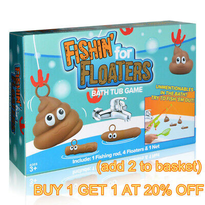 Fishing For Floaties Floater Novelty Poo Game Kids Adults Bath Time Fun Water m1