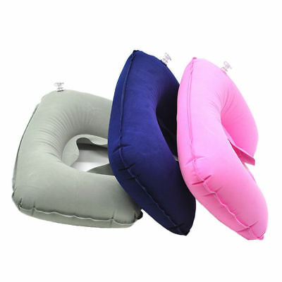 Soft Inflatable U Shaped Travel Pillow Air Cushion Neck Head Rest Compact Flight
