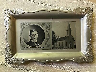 Antique Calling Card Tray Lordstown Ohio Evangelical Lutheran Church Nicholson