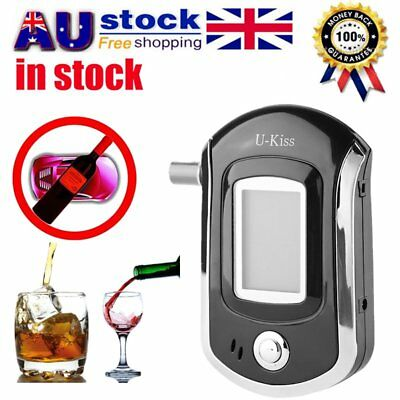 Portable Digital Alcohol Breathalyser Breath Tester Breathtester w/ Blue LCD VG