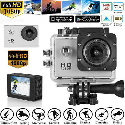 2'' Action Camera Waterproof HD 1080P Sport LCD Digital Video Recorder Camcorder