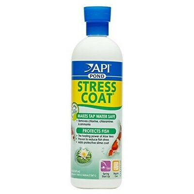 Api Pond Stress Coat Pond Water Conditioner, Safe For Pets, 473ml