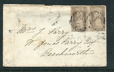 Victoria  1856 2D Queen On Throne  Pair On Cover To Beechworth