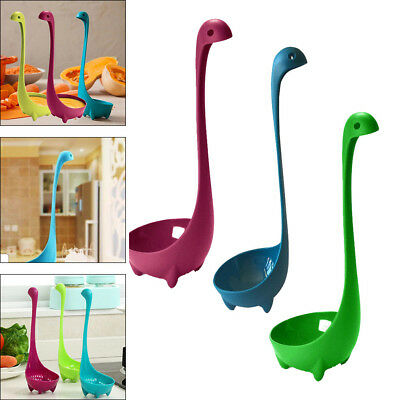 3X Dinosaur Spoons Soup Loch Ness Ladle Nessie Spoon Kitchen Cooking Supplies
