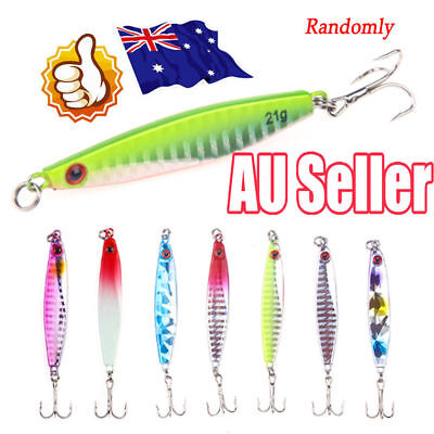3 X 21g Chrome wedges dexter style metal spinners deep lures prisma mackerel
