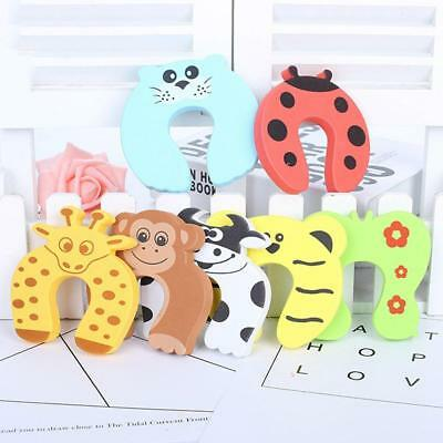 7Pcs Baby Kids Safety Cartoon Door Stopper Clip Clamp Pinch Hand Security
