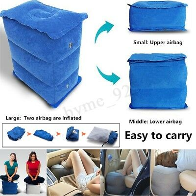 Portable Inflatable Office Car Travel Pillow Footrest Kids Leg Pad Bed Relax New