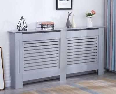 Modern Radiator Cover Wood MDF Wall Cabinet White / Natural Unpainted / Grey