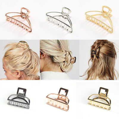 Women New Hair Accessories Metal Modern Stylish L/S Hair Claw Clips Hairband ~