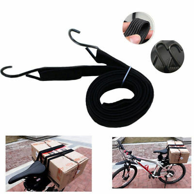 Elastic Stretch Bungee Luggage Cord Strap Rope Hook for Motorcycle Bicycle 180CM