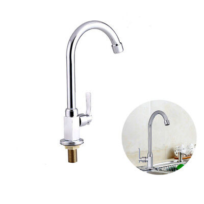 Kitchen Tap Sink Mixer Single Lever Handle Faucet Stainless Brushed