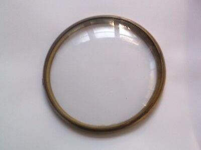 GLASS / RIM  FROM AN OLD SMITHS   MANTLE CLOCK  4 7/8 inch OUTER diam  ref G4