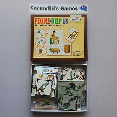 PEOPLE WHO HELP US: Association Card Game ~ Creatives. Puzzle Matching Game. H
