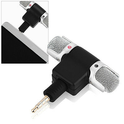 1x Portable Professional Mini 35mm Stereo Voice Recorder Digital Mic Microphone