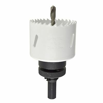 57mm HSS Hole Saw Holesaw Bi-Metal Blade Cutter Drill And Drill Adaptor Arbor