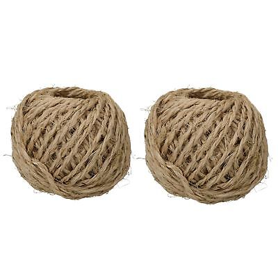 200 Metres 2.5mm Sisal Twine String Jute Ball For Hobby Craft And Gardening Use