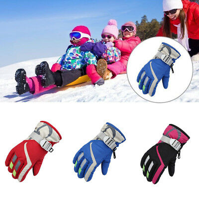 Children Kids Winter Snow Warm Gloves Boy Girls Ski Snowboard Gloves Windproof