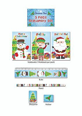 Christmas Xmas Stationery Sets - Childrens Character Kids Party Loot Bag Fillers