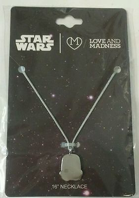 "Star Wars Love And Madness Stormtrooper 16"" Necklace New & Unused FREE SHIPPING"