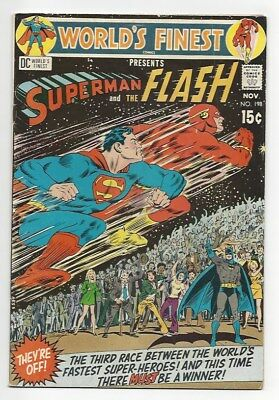 World's Finest #198 & #199 3rd Superman vs Flash race 1970