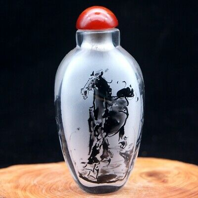 Chinese Collectible  Handmade Inside painted ink landscape Snuff Bottle