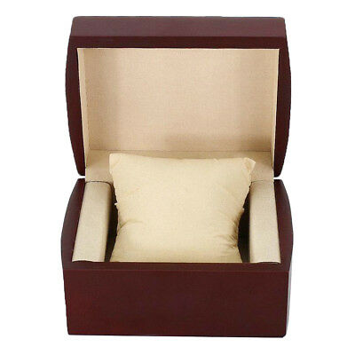 Retro Wine Red Jewelry Bracelet Watch Display Travel Storage Box 10x12x7.5cm