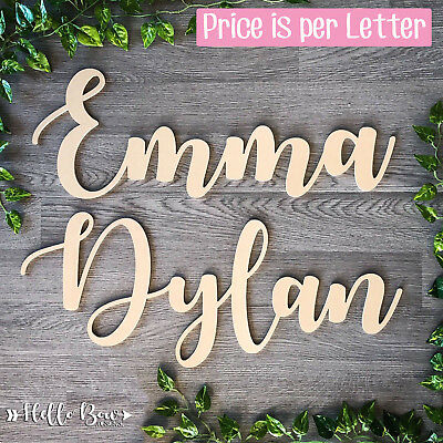 LARGE WOODEN LETTERS 30cm HIGH MDF Custom Cut Names & Words Price Is Per Letter