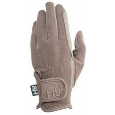 Hy5 Children's Every Day Riding Gloves - Brown - Child Large