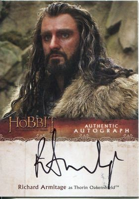 The Hobbit Desolation Of Smaug Autograph Card Richard Armitage as Thorin