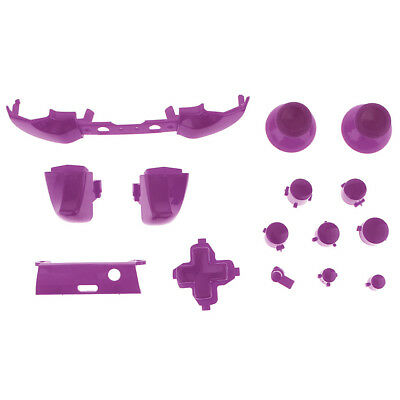 Thumbstick Analog Stick Bullet ABXY Buttons for Xbox One S Controller Purple