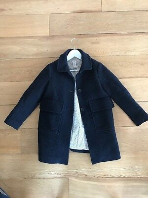 Bonpoint Classic Coat 8y Navy Blue Girl